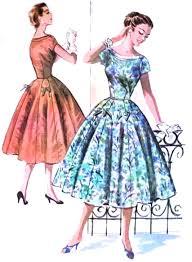 1950s Dress Patterns Adorable 48s Beautiful Dress Pattern McCalls 48 Lovely Peek A Boo