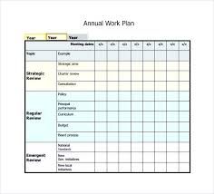 Annual Work Plan Template Excel Free Download Monthly Schedule