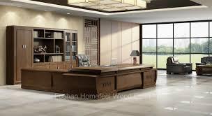 office desk large. Wooden Office Desk Large Luxury Executive (HF-EU02D381) E