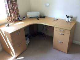 curved office desk. Rounded Corner Desk Curved Office Desks With 2 Filing Cabinets Attached For Sale