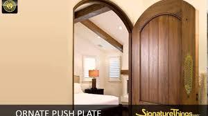 Ornate Push Plate - Decorative Brass Door Hardware - YouTube