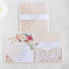 Elegant Invitation Cards Us 39 0 Elegant Invitation Card Wedding Marriage Soft Pink Pearl Paper Pocket Fold Customized Printing 50pcs In Cards Invitations From Home