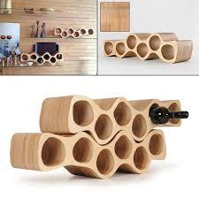 Wooden wine rack OTTO, elegant birch plywood