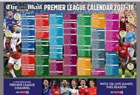 Premier League Wall Chart Details About Mail On Sunday Premier Football League 2017 18 Wall Chart Calendar New Season