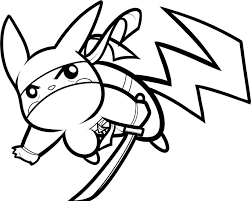 Ninja Pikachu Coloring Page | Pokemon | Pinterest | Kids colouring