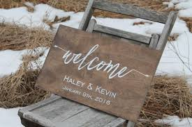 welcome to our wedding sign personalized wedding sign rustic wooden wedding sign wild oaks