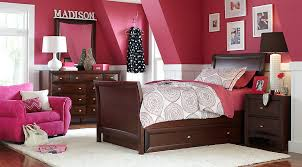 Ivy League Cherry 6 Pc Full Sleigh Bedroom - Teen Bedroom Sets Dark Wood