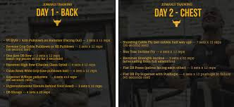 the rock workout back chest jpg