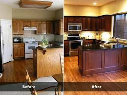 marvelous painting kitchen cabinets without sanding on how to paint at home design previously stained