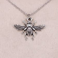 new fashion tibetan silver pendant bee honey 32 24mm choker charm short long diy necklace factory handmade jewelry