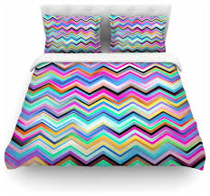 dawid roc colorful rainbow chevron duvet cover queen contemporary duvet covers