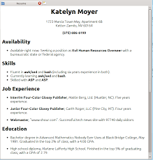 Resume Sample Infoe Link
