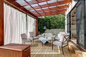 clear covered patio ideas. Clear Patio Roof Deck Roofing Ideas Contemporary With Outdoor Drapery Pergola . Covered
