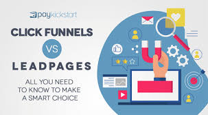 Clickfunnels Sign Up Chart Click Funnels Vs Leadpages Paykickstart