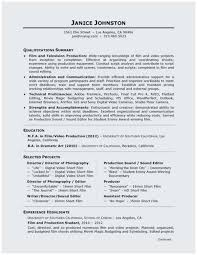 Video Production Resume Samples Video Production Resume Samples Popular Director Resume Simple