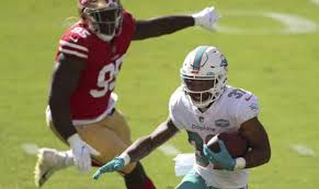 Dolphins put Myles Gaskin on IR, in injury trouble at RB vs. Cardinals
