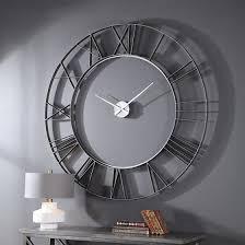 uttermost carroway art deco wall clock