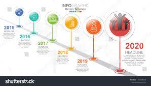 Design Eras Timeline 6 Step Timeline Infographics Design Template Stock Vector