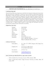 Unusual Curriculum Vitae English Sample Doc Images Entry Level