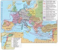 Крестовые походы веков История Средних веков Реферат  Карта крестовых походов