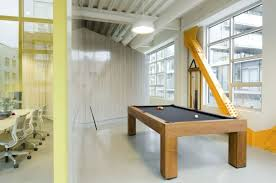 Office game room Theme Remarkable Open Office Design Of Portland Based Firm Striking Wooden Pool Table In The Office Stevenwardhaircom Office Workspace Design Striking Wooden Pool Table In The Office