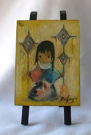 heavenly blessings from original oil print on wooden easel artist ted de grazia