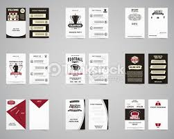 American Football Brochure Set Flyer Templates Design Collection Usa ...