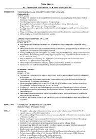 Support Analyst Resume Samples Velvet Jobs