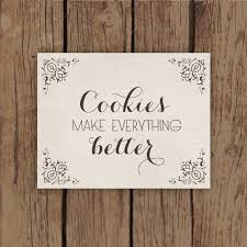 Cookie Quotes Simple Kitchen Art Print Food Art Print Typography With Cookie Quote