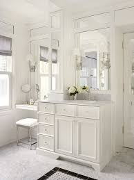 double sink vanity with makeup table bathroom traditional with white countertop wh