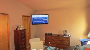 fairfield ct led tv mounting on wall in bedroom with wires concealed 2