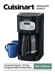 Clean Light On Braun Coffee Maker Cuisinart Dcc 500 Series Specifications Manualzz Com
