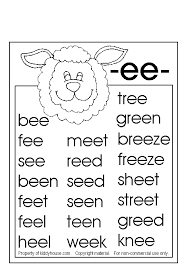 Lesson 2 then teaches the 20 common long vowel. Phonics Sheet Phonics Phonics Worksheets Ee Words