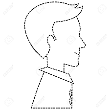You can draw dotted lines (duh), or turn the chalk sideways to shade an area, or lots of other techniques. A Dotted Line Sketch Of Human S Profile Isolated Icon Vector Royalty Free Cliparts Vectors And Stock Illustration Image 96588368