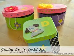 Box Decorating Ideas For Kids Jewelry box or trinket box Kids craft with Plaid crafts 27