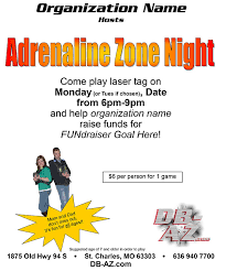 Flyers For Fundraising Events St Charles Fundraiser Corporate Events Adrenaline Zone