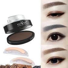 eyebrow powder eyes makeup eyebrow st seal brands waterproof grey brown eye brow powder with eyebrow stencils brush tools tattooed eyebrows beauty