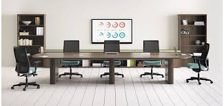 Office table furniture Folding Preside Conference Table With Ignition Conference Chairs Royal Oak Tables Hon Office Furniture