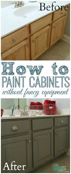 alluring painting bathroom cabinet and the average diy girls guide to painting cabinets