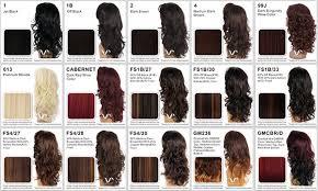 Fs4 27 Color Chart Vivica Fox Goldie V Lace Front Wig