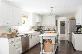 diy kitchen furniture. White Painted Kitchen With DIY Island Diy Furniture