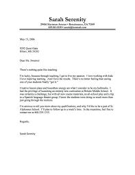 Cover Letter For New Teacher Art Teacher Cover Letter Free Template