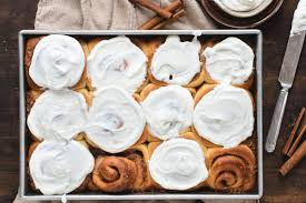 Beginning with a long edge, tightly roll the dough into a long log, crimping the last edge to seal. Cinnamon Rolls With Whipped Cream Cheese Frosting The Frozen Biscuit