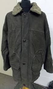 tenson out door men s flight thick leather jacket with removable fur collar liner m 27 2 7 kg