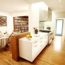 mid century modern galley kitchen. Mid-Century Modern Galley Kitchen With Nearby Dining Room Mid Century