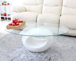 DECO IN PARIS - Table basse design blanche en verre maxus maxus blanc