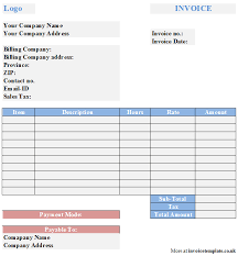 Free Business Invoices Free Invoice Template For Excel Online Invoicing For Small Business 21