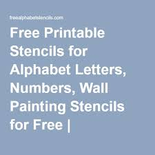 free printable stencils for alphabet letters numbers wall painting stencils for free freealphabetstencils com pallets free printable