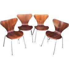 arne jacobsen furniture. 4 Series 7 Rosewood Chairs By Arne Jacobsen - 1960s Furniture