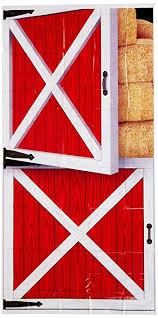 beistle barn door cover 30 inch by 5 feet multicolor